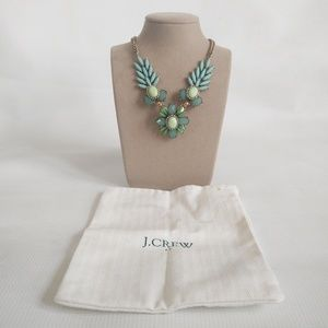 Teal J Crew Factory Statement Necklace